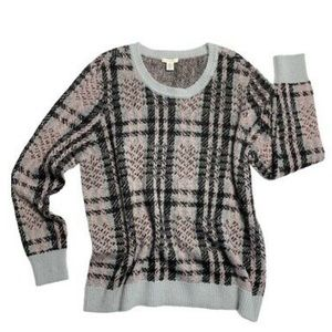 🆕Westbound Plaid Blk, Pink & Gray Sweater PS